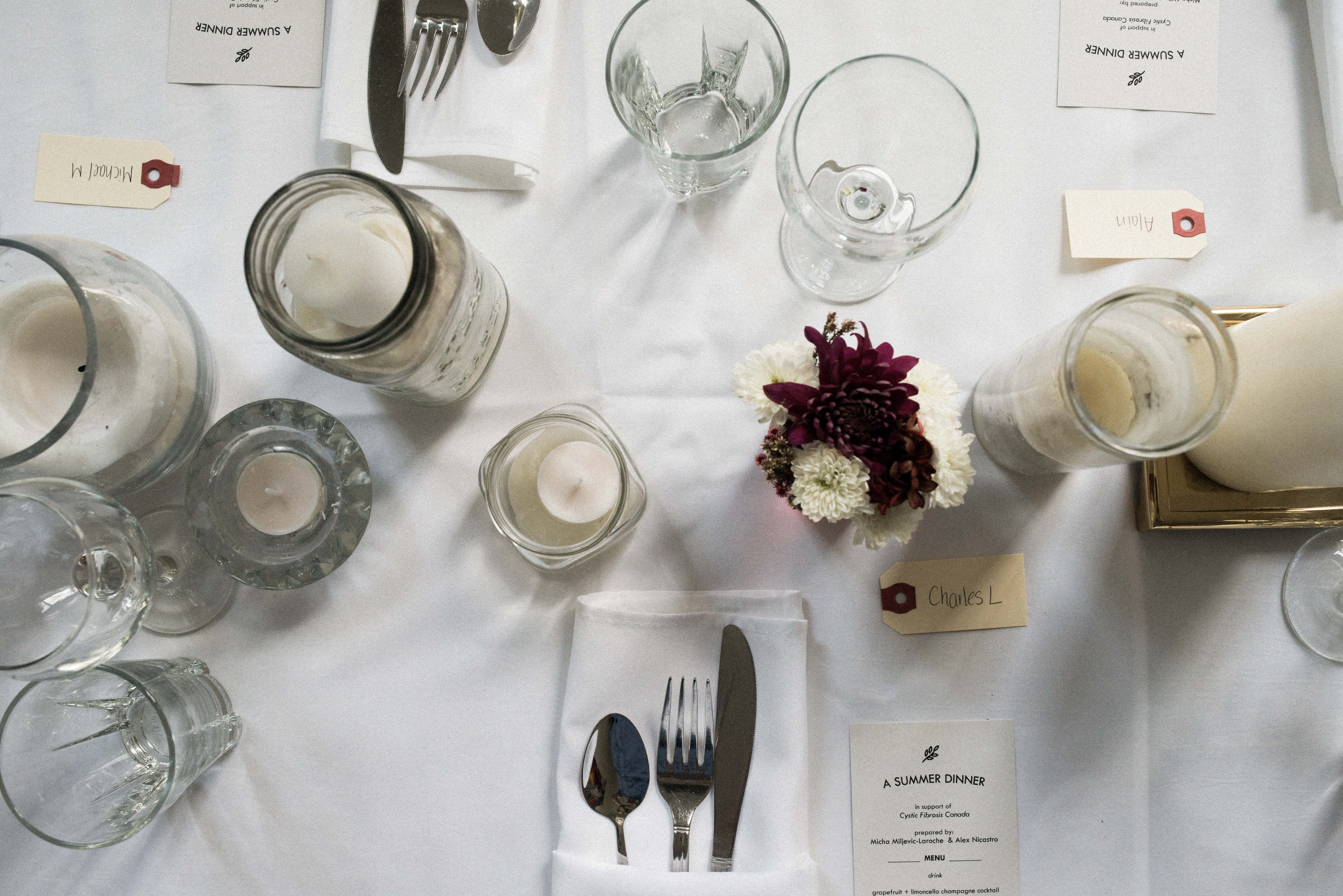 A Summer Dinner Table Setting