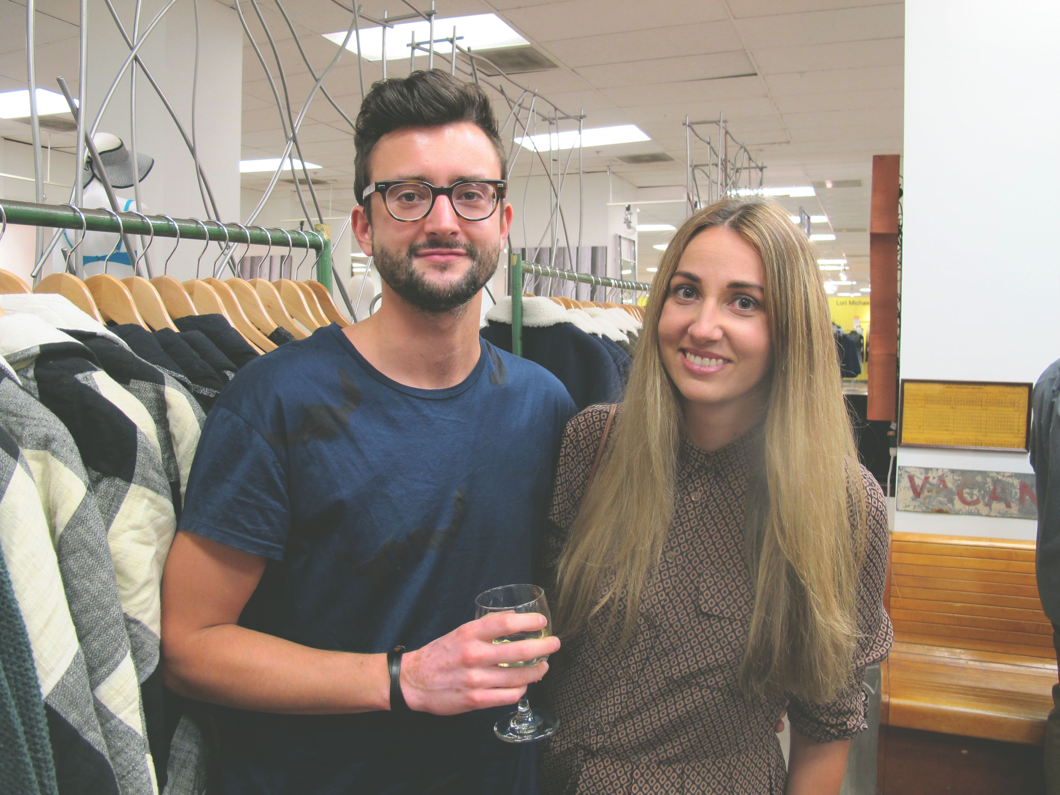 Carolynn Lacasse and Laurent Bourque at the Drake General Store Ottawa