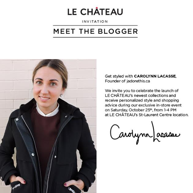 Carolynn Lacasse Le Chateau Meet the Blogger